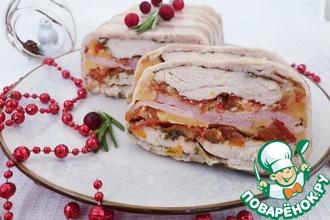 Рецепт: Слоеная мясная закуска на Новый год