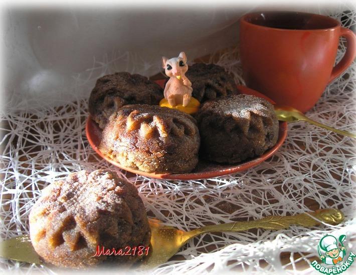 Постные гречневые кексики с хурмой
