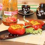 Перец, фаршированный фасолью и овощами