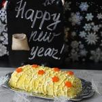 Салат-рулет Новогодний салют