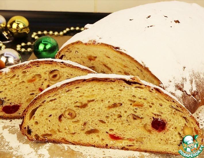 Рецепт: Рождественский сдобный хлеб