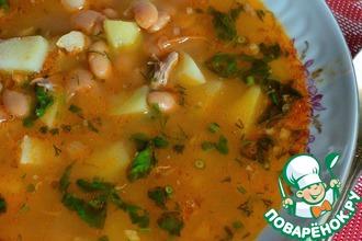 Рецепт: Суп с фасолью БыстрЕньКО