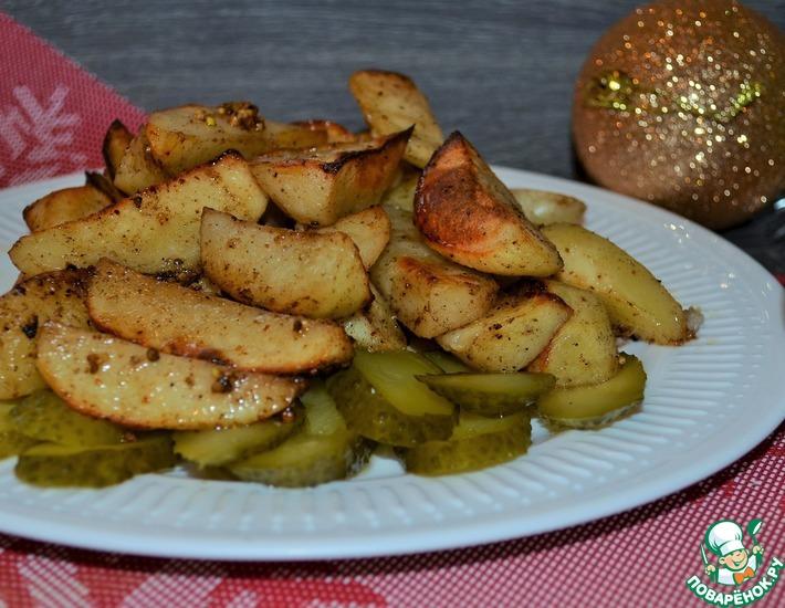 Рецепт: Картофель медово-горчичный