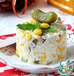 Салат Сыр по-французски Кукуруза