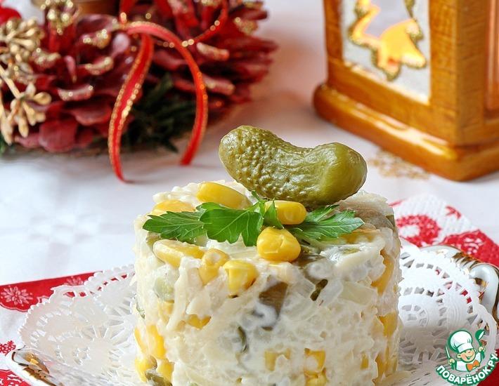 Рецепт: Салат Сыр по-французски