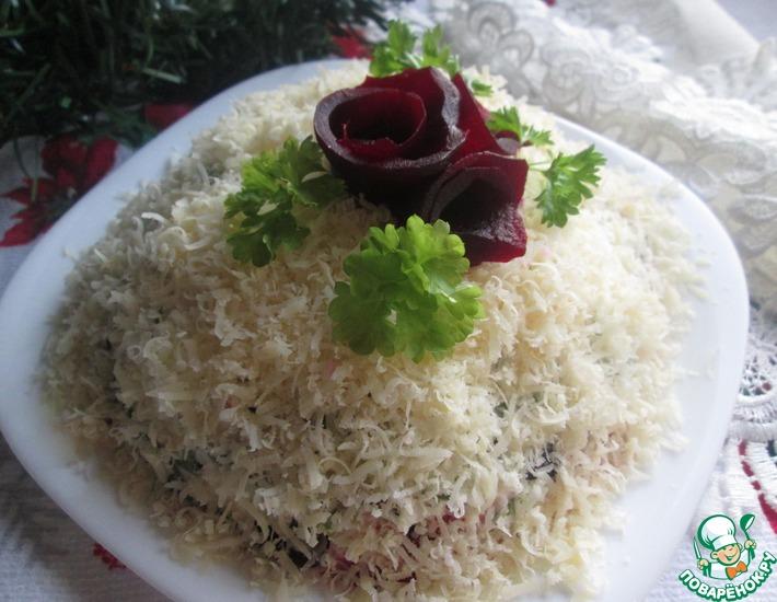 Рецепт: Свекольный салат Под снегом
