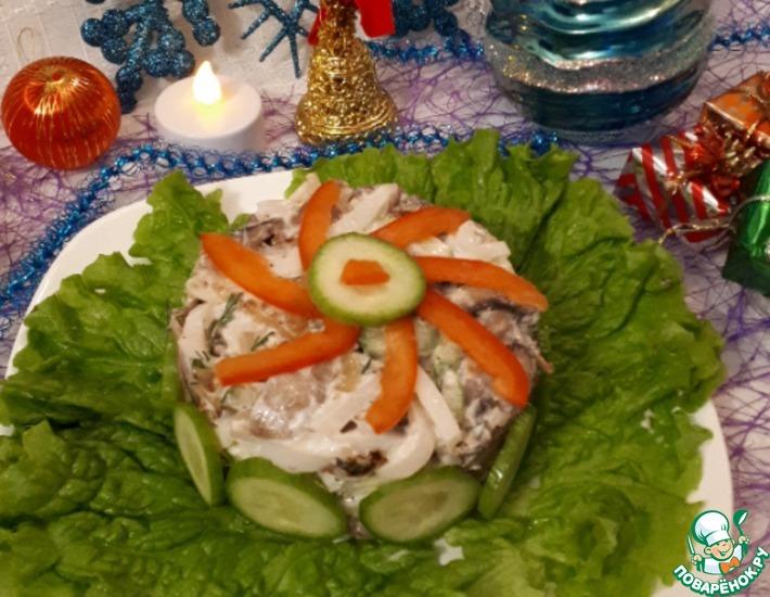 Рецепт: Салат с кальмарами