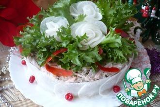 Рецепт: Мясной салат Фаворит на новогодний стол