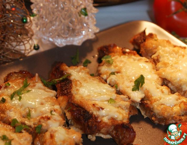 Рецепт: Корейка под луковым соусом в духовке