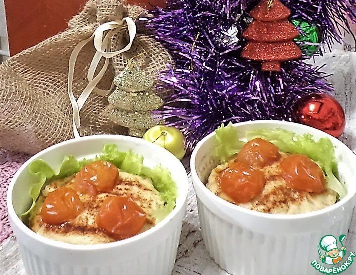 Рецепт: Порционный куриный террин с сюрпризом