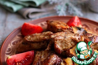 Рецепт: Жаркое из свиных ребрышек с грибами