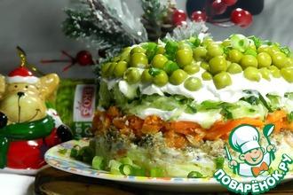 Рецепт: Салат со шпротами и горошком