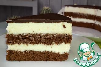 Рецепт: Очень нежный торт Милка