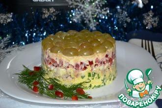 Рецепт: Праздничный салат Красавчик