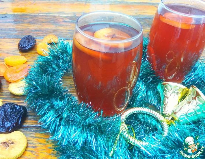 Рецепт: Рождественский узвар с малиной