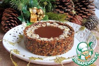 Рецепт: Шоколадно-ореховый постный торт