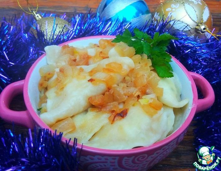 Рецепт: Вареники с картофелем и творогом