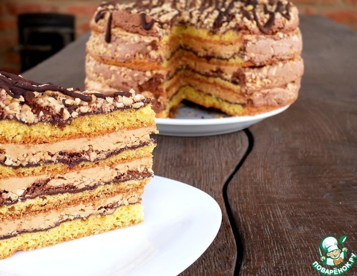 Рецепт: Торт Белочка
