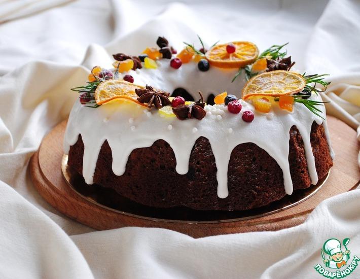 Рецепт: Рождественский кекс с сухофруктами