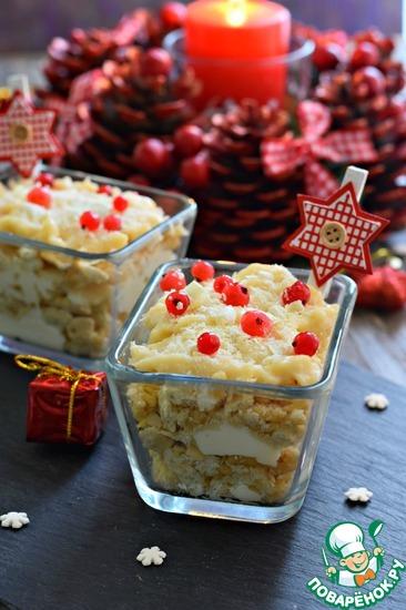 Десерт с заварным йогуртовым кремом