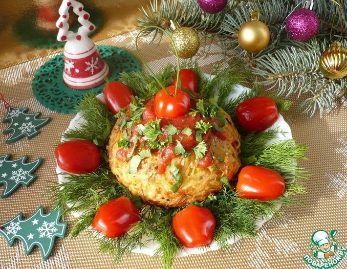 """Новогоднее блюдо """"Картофельные шары с начинкой """" – кулинарный рецепт"""