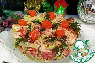 Рецепт: Салат Новогодний коктейль