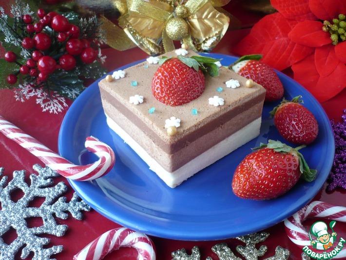 Воздушный десерт для новогоднего стола