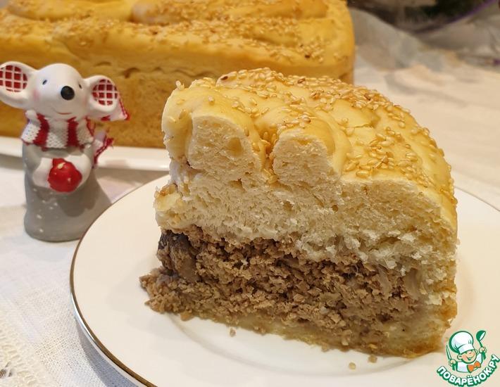 Рецепт: Пирог пикантный мясной