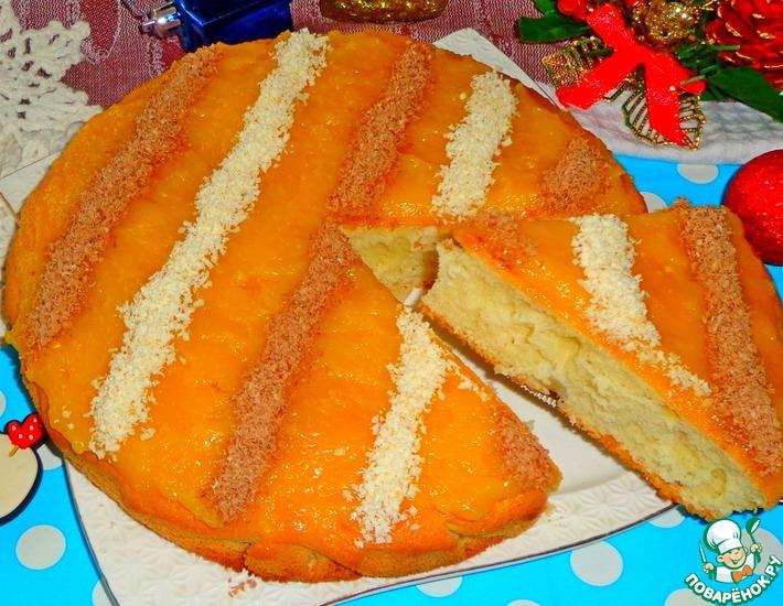 Рецепт: Шарлотка с заварным мандариновым кремом