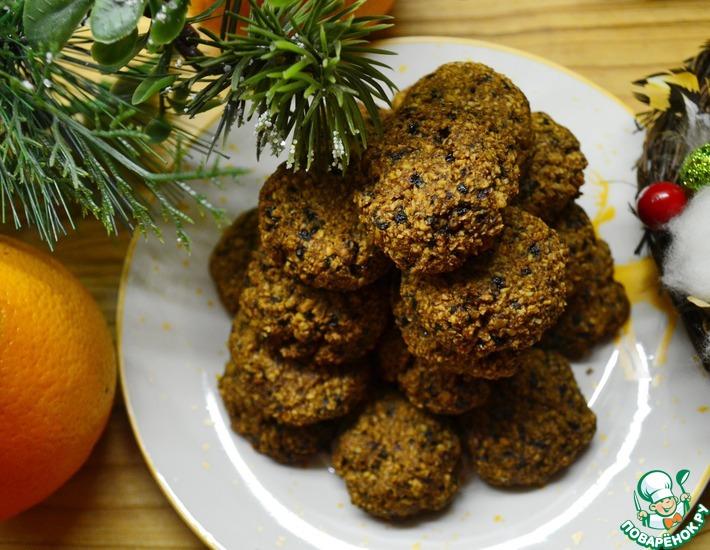 Рецепт: Мягкое печенье Пряный апельсин