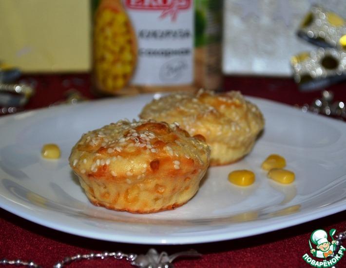 Рецепт: Закусочные маффины Мраморные