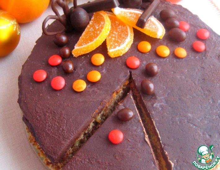 Рецепт: Торт Новогодний апельсин