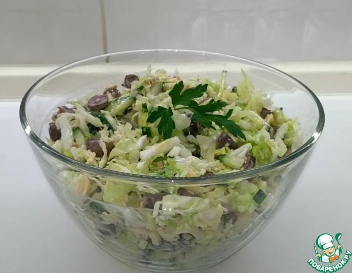 Рецепт: Салат с пекинской капустой и сердечками