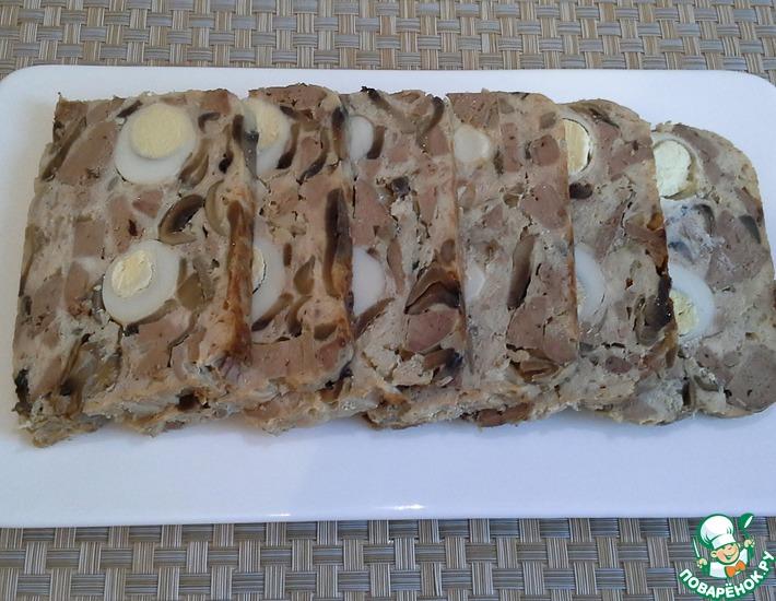 Рецепт: Куриный террин с печенью