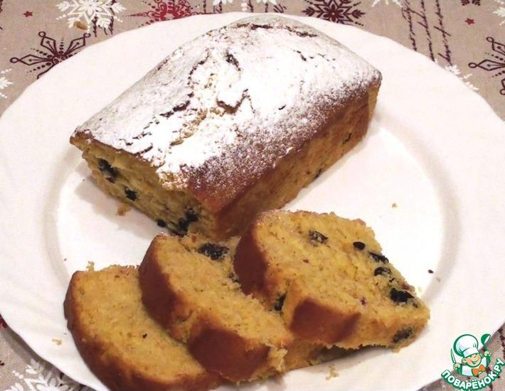 Рецепт: Мандариновый кекс-пирог с изюмом