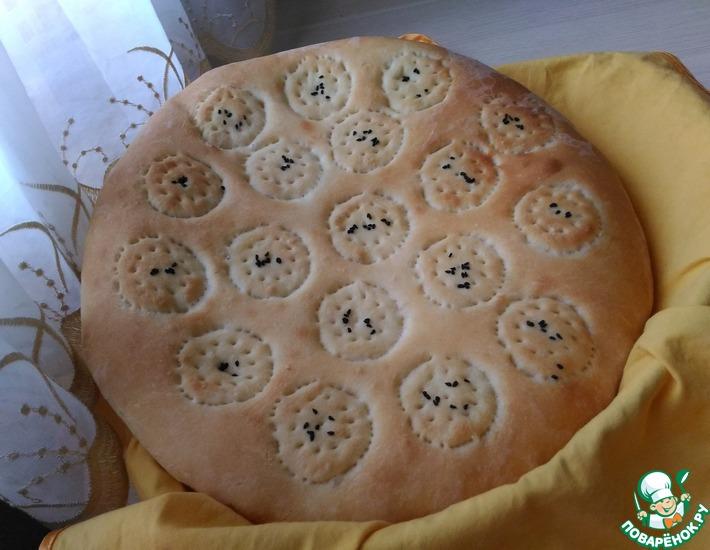 Рецепт: Простая узбекская лепешка с чернушкой