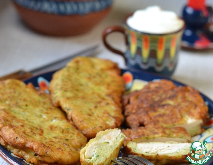 Рецепт: Куриная грудка в картофельном тесте