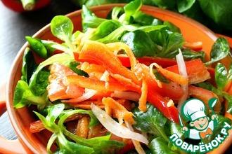 Рецепт: Cалат из красного перца Мега-витаминный