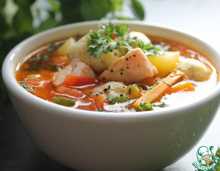Рецепт: Рыбный суп с сырными шариками