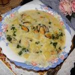 Суп с мидиями Бархатный