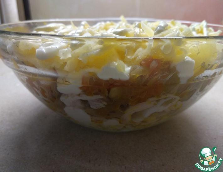Рецепт: Салат Идеал с ананасами