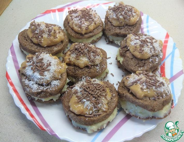 Рецепт: Шоколадное печенье Сладкоежка