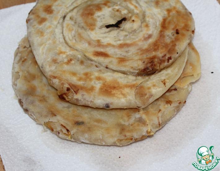 Рецепт: Луковая лепешка Катлама