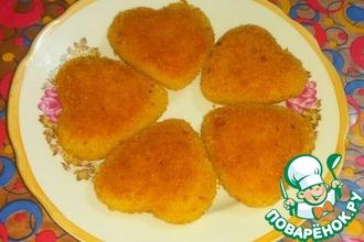 Рецепт: Хрустящие пирожки Сердечки