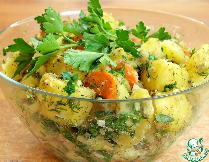 Рецепт: Печёный картофель в рукаве