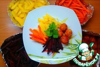 Рецепт: Ужин с запеченными овощами Все и сразу