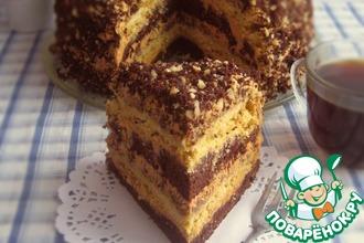 Рецепт: Торт шоколадно-ореховый