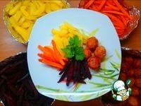 Ужин с запеченными овощами Все и сразу ингредиенты
