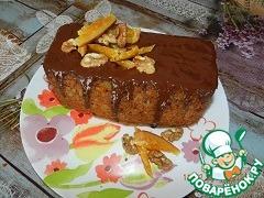 Готовый кекс остудить, украсить по желанию. Можно посыпать сахарной пудрой с добавлением корицы или полить растопленным шоколадом и присыпать орехами...