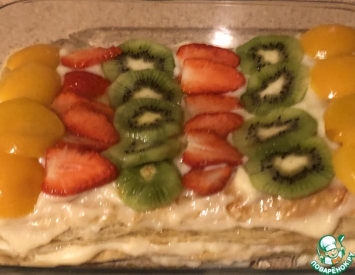 Рецепт: Торт «Экспресс Наполеон фруктово-ягодный»